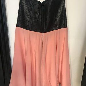 Mason Dress leather and silk